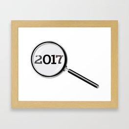 2017 Magnifying Glass Framed Art Print