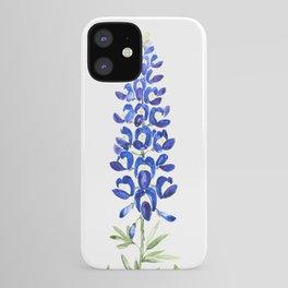 Texas bluebonnet in watercolor iPhone Case