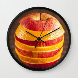 Mixed orange and apple Wall Clock