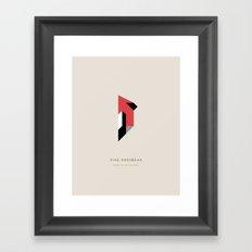 Pine Grosbeak Framed Art Print