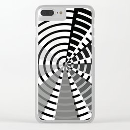 Nine Bar Grayscale Wheel Clear iPhone Case
