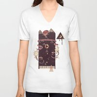 play V-neck T-shirts featuring Play! by Hector Mansilla