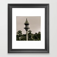 A kind of Minaret in India Framed Art Print