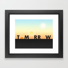 Tomorrow Framed Art Print