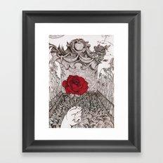 rose and grave Framed Art Print