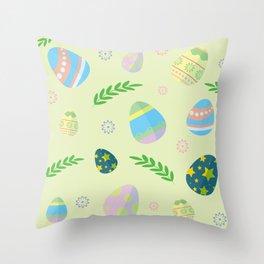 Easter eggs pattern Throw Pillow