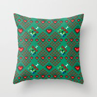 video games Throw Pillows featuring I 3 up video games by Fabian Gonzalez