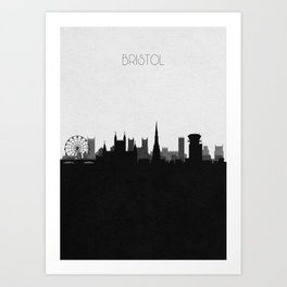 City Skylines: Bristol Art Print