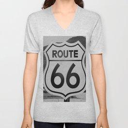 Route 66 Sign Unisex V-Neck