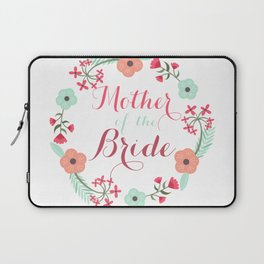 Floral Wreath Mother of he Bride Laptop Sleeve