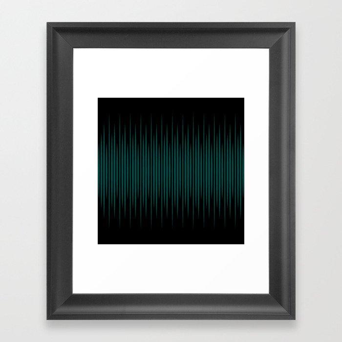 Linear Emerald Black Gerahmter Kunstdruck