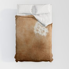 Brown Cowhide Farmhouse Decor Comforters