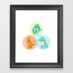Poké: choose your starter Framed Art Print