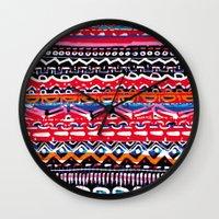 batik Wall Clocks featuring Batik Attack by RAMALAMA