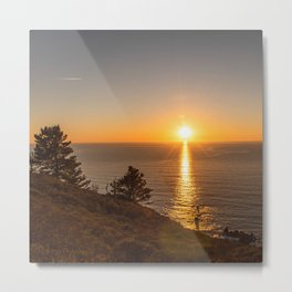 Sunset Photography, Marin Headlands, San Francisco Art, Coastal California Home Decor, Fine Art Photography Metal Print