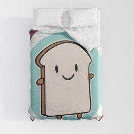 Happy Bread Slice Duvet Cover