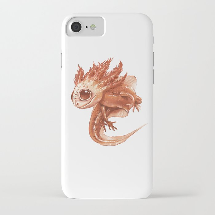 pink axolotl iphone case