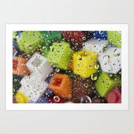LEGO bricks reflections Art Print