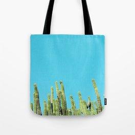 Desert Cactus Reaching for the Blue Sky Tote Bag