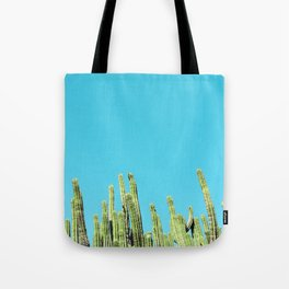 Desert Cactus Reaching for the Blue Sky Tote Bag