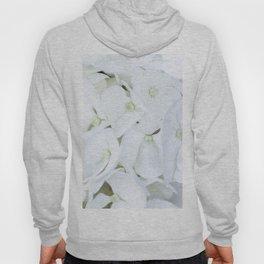 White hortensia flowers Hoody