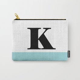 Monogram Letter K-Pantone-Limpet Shell Carry-All Pouch