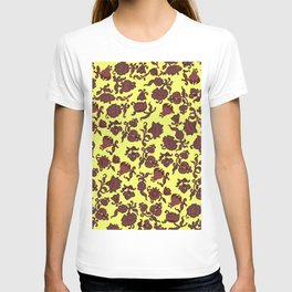 red flowers and leaves . art T-shirt