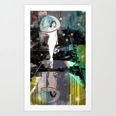 BUBBLE RAIN Art Print