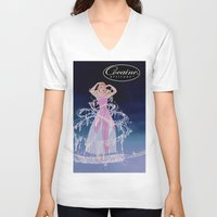 cocaine V-neck T-shirts featuring Cinderella Cocaine Attitude by Trash Apparel
