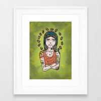 simpson Framed Art Prints featuring Saint Simpson by A+A Noisome Art