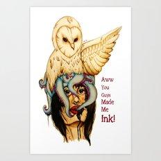 ink text Art Print