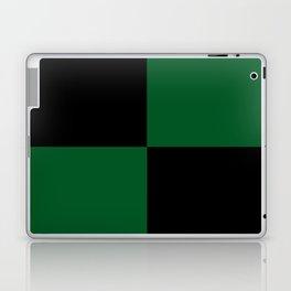 Big mosaic dark green - black Laptop & iPad Skin