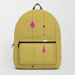 Midcentury gold and pink Backpack