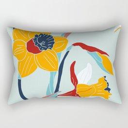 Mid Century spring flowers Rectangular Pillow