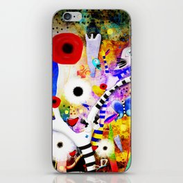 Since you are here - Striped Tree Black and white - Rainbow Abstract Art iPhone Skin