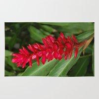 hawaiian Area & Throw Rugs featuring Hawaiian flower by lennyfdzz
