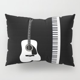 Guitar Piano Duo Pillow Sham