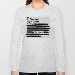Gemini 1 Long Sleeve T-shirt