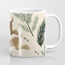winter deer // repeat pattern Coffee Mug