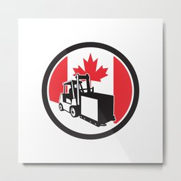 Canadian Logistics Canada Flag icon Metal Print