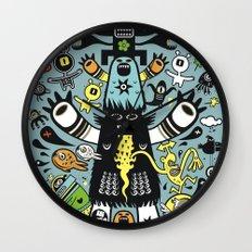 Guru Cat (blue time) Wall Clock