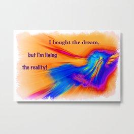 """Flash Dream"" / ""Reality"" Metal Print"