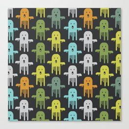 Funny ghosts Canvas Print