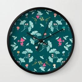 Ginkgo Midori Wall Clock