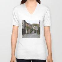 edinburgh V-neck T-shirts featuring Edinburgh street by RMK Creative