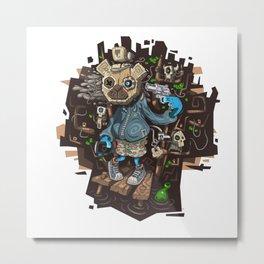Crazy Doll Bear Metal Print