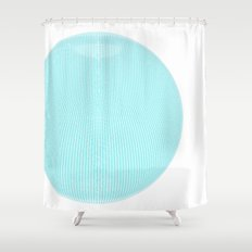 Wire Globe Full Blue White Background Shower Curtain