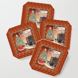 Curious Christmas Cats Coaster