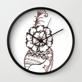 33. Big Henna Flower Alive and Growth Wall Clock