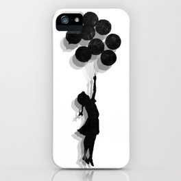 Banksy Fly Away  iPhone Case